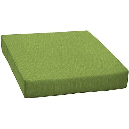green chair cushions childrens table and chairs new zealand mainstays solid outdoor deep seat cushion walmart com departments