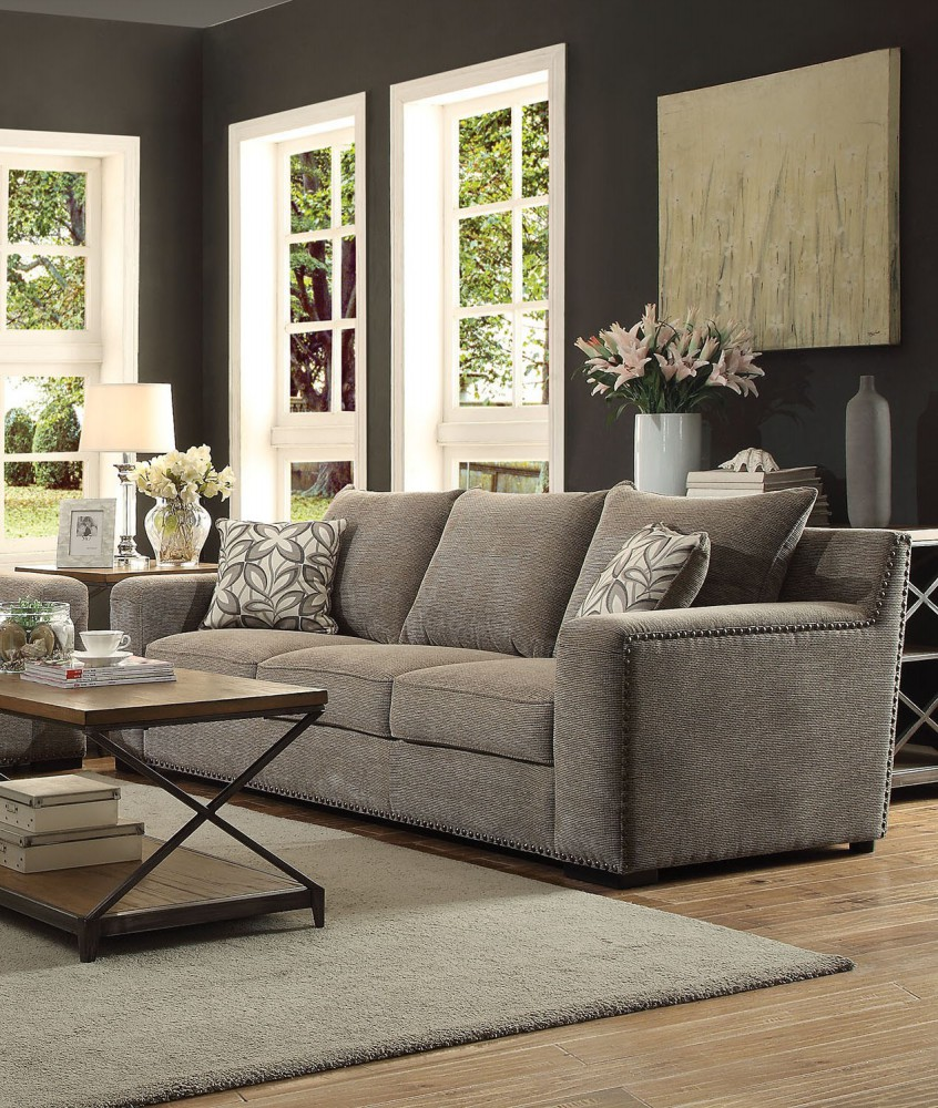 Check out our grey couch pillows selection for the very best in unique or custom, handmade pieces from our decorative pillows shops. Ushury Gray Sofa with 2 Pillow - Walmart.com - Walmart.com