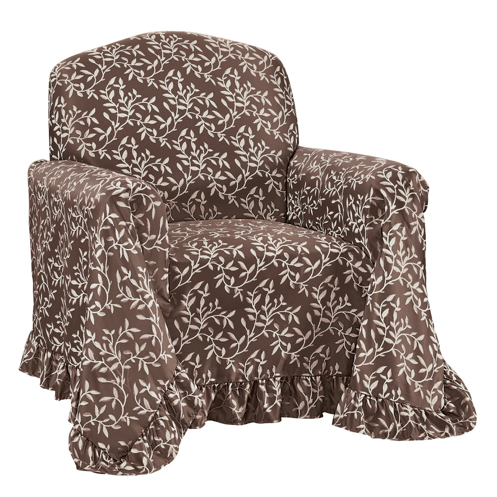 dollar tree easter chair covers lounge chairs at big lots walmart com product image collections etc leaf patterned furniture cover with ruffle borders protector design