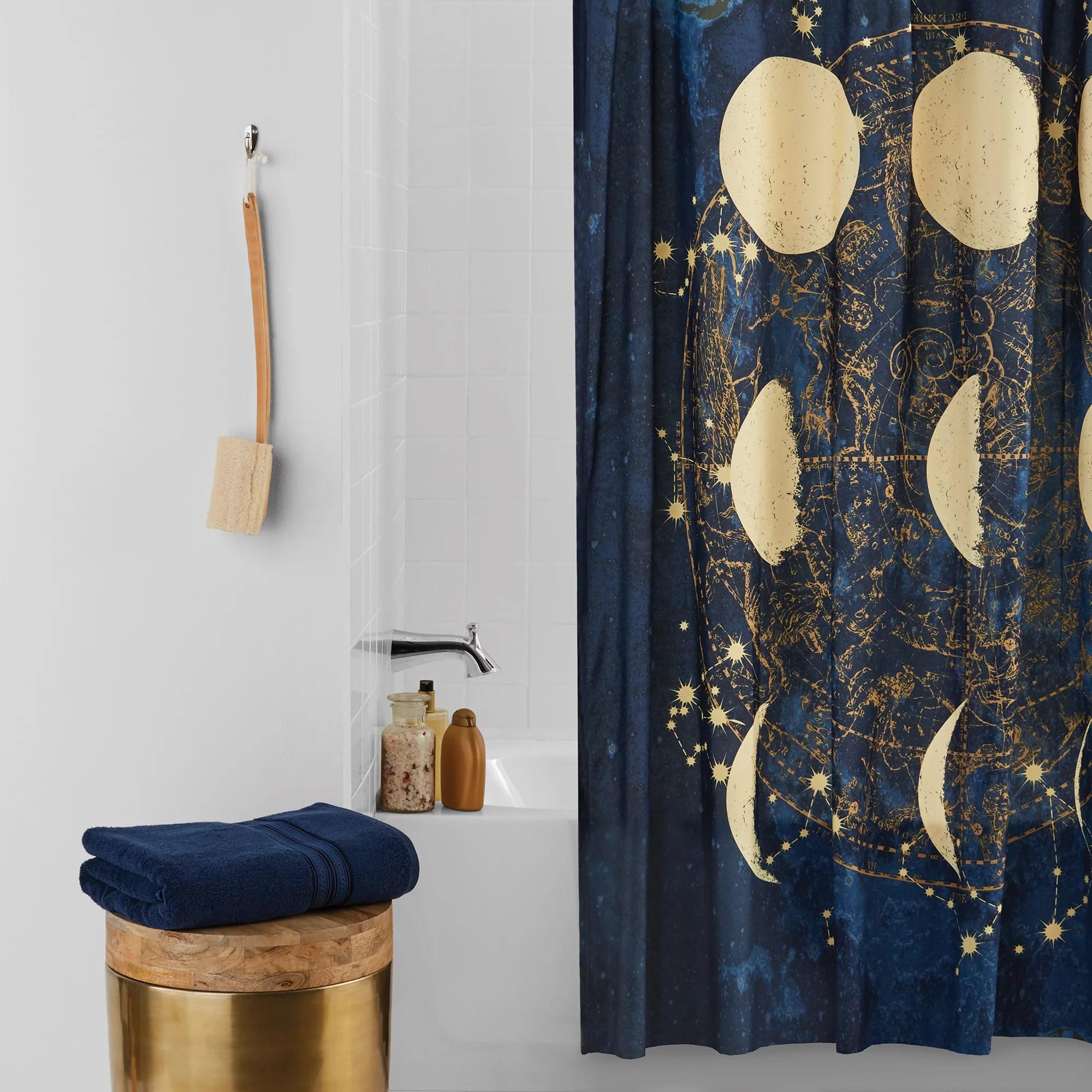 mainstays celestial microfiber shower curtain 70 x 72