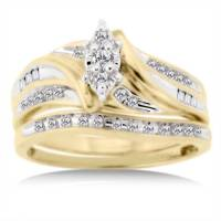 1/3 Carat Diamond T.W. Bridal Set in 10kt Yellow Gold ...
