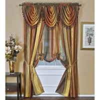How To Hang Curtains With Waterfall Valance   Curtain ...