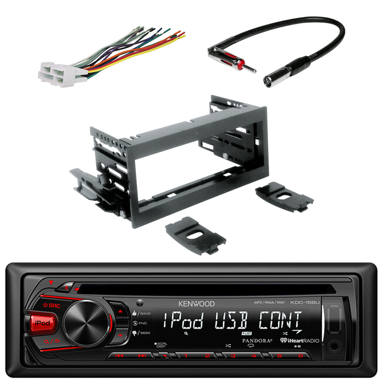 medium resolution of kenwood in dash single din cd player aux car stereo receiver with rh walmart com gm wiring harness diagram ez wiring 21 circuit harness