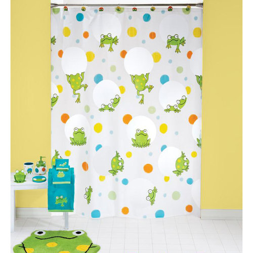 Mainstays Peeking Frogs Decorative Bath Collection Shower