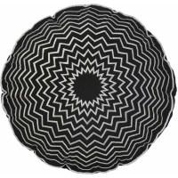 Round Embroidered Decorative Pillow, Black - Walmart.com