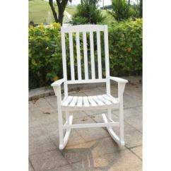 Folding Chaise Lounge Chair Walmart Tufted Dining Chairs Sale Alston White Porch Rocker - Walmart.com