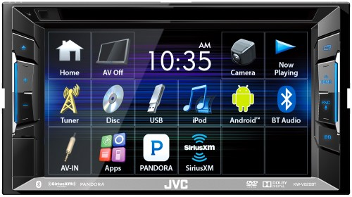 small resolution of jvc kw v220bt dvd cd usb receiver with bluetooth and 6 2 touchscreen walmart com