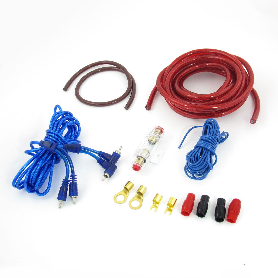 hight resolution of auto car 2000w rca to rca audio cable amplifier speaker wiring kit image 1 of zoomed image