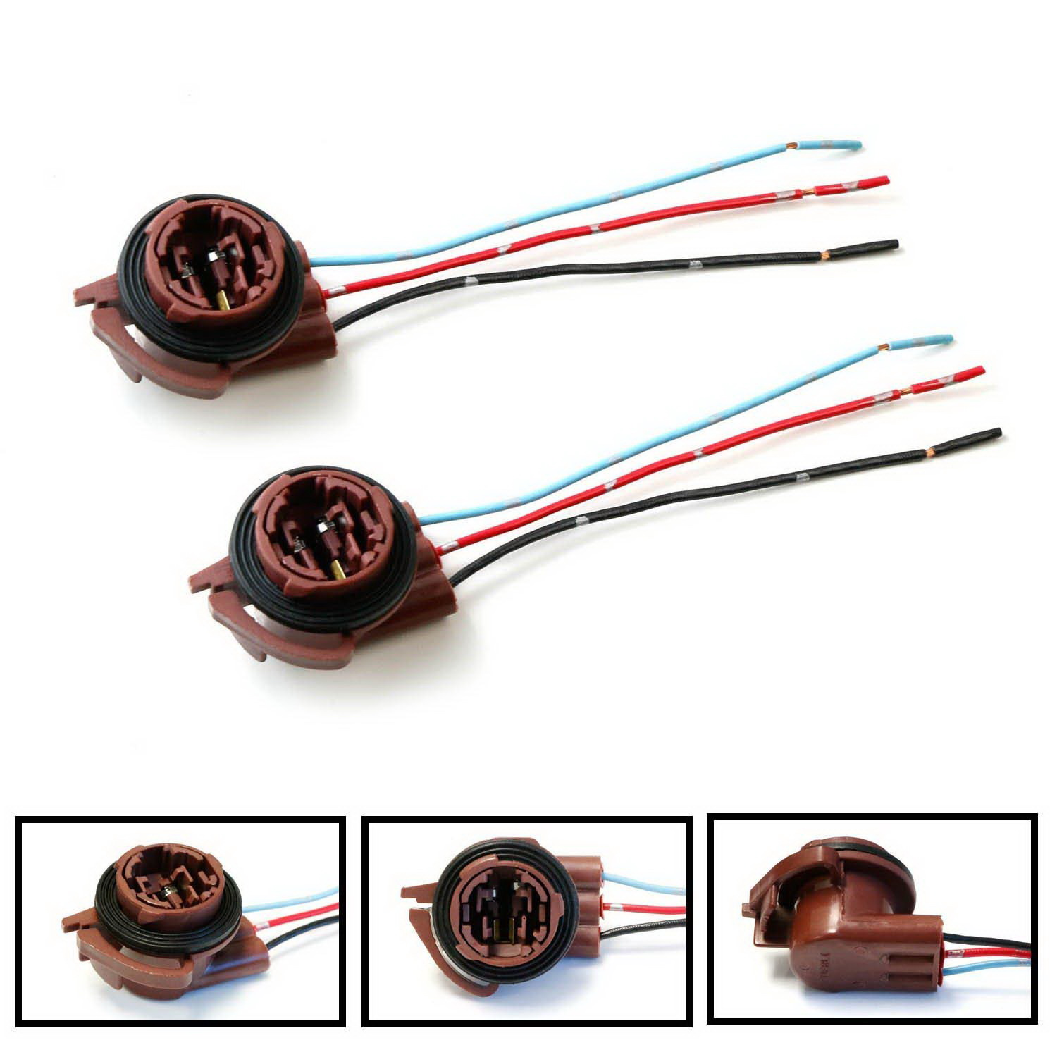 hight resolution of ijdmtoy 2 3156 3157 pre wired harness sockets for repair replacement install led bulbs for turn signal lights drl lamps or brake tail lights walmart