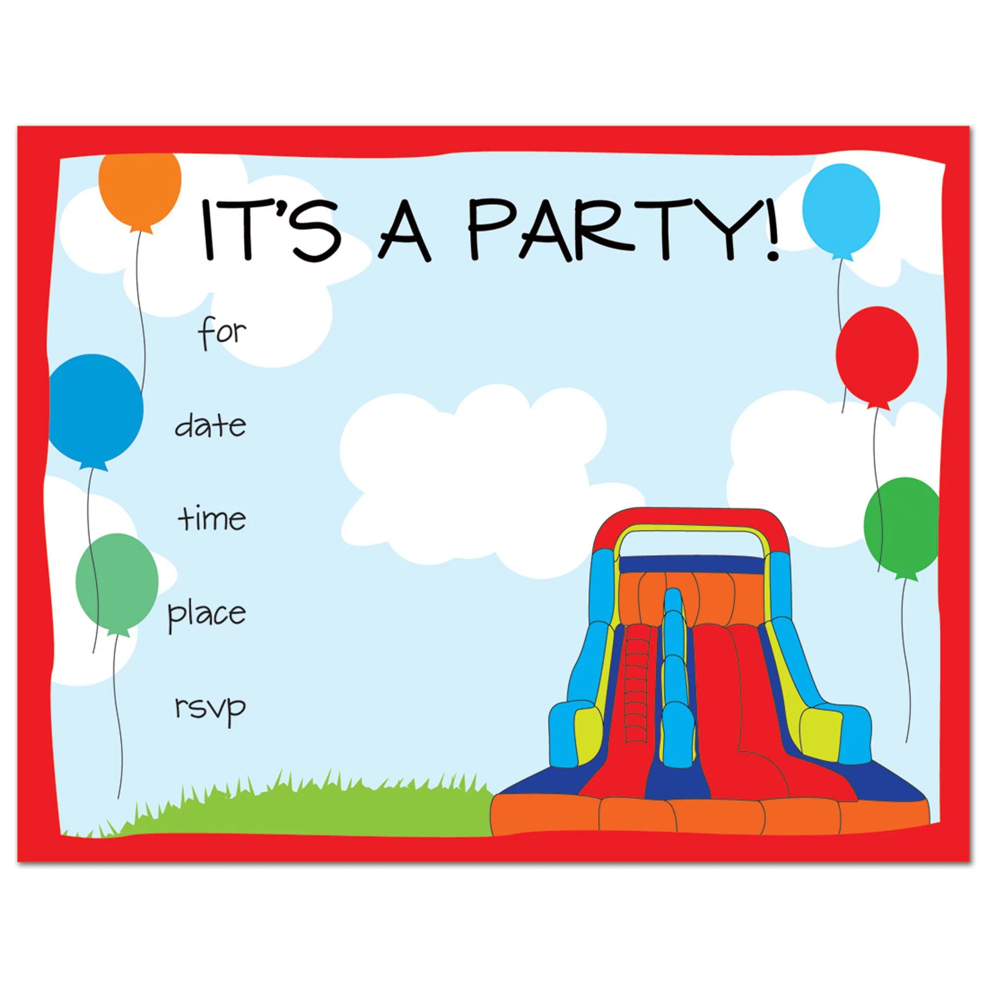 bounce house fill in