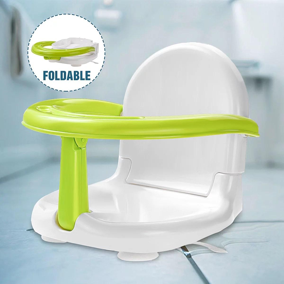 Foldable Baby Bath Seat Folding Anti-Skid Safety Shower ...