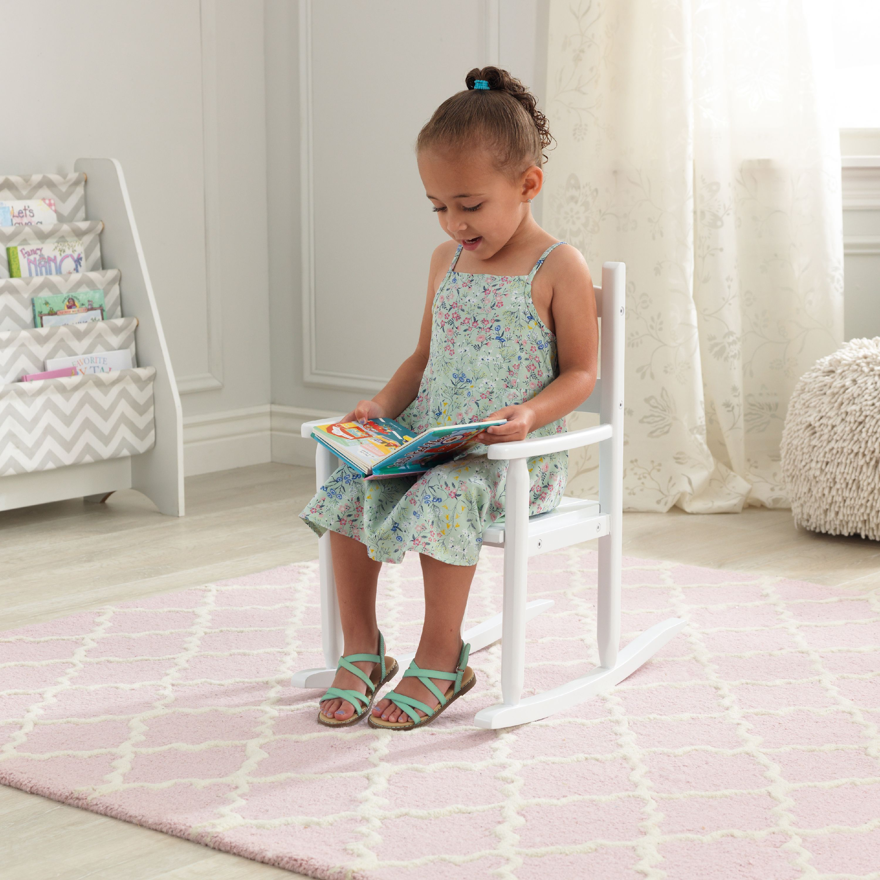 kids upholstered rocking chair pottery barn baby chairs walmart com product image kidkraft classic wooden white