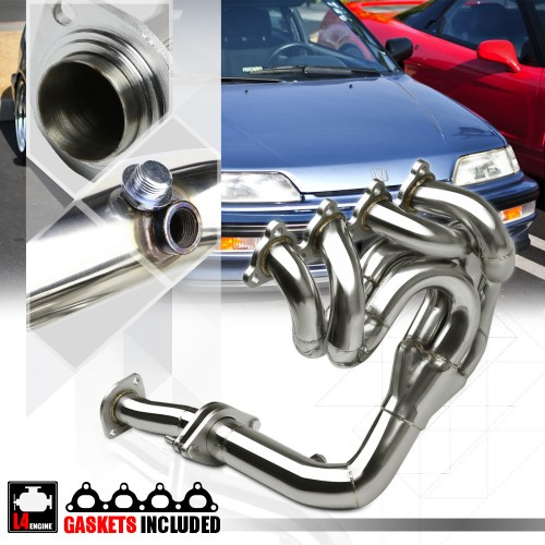 small resolution of ss drag performance exhaust header manifold for 88 00 civic crx del sol d15 d16 89 90 91 92 93 94 95 96 97 98 99 walmart com