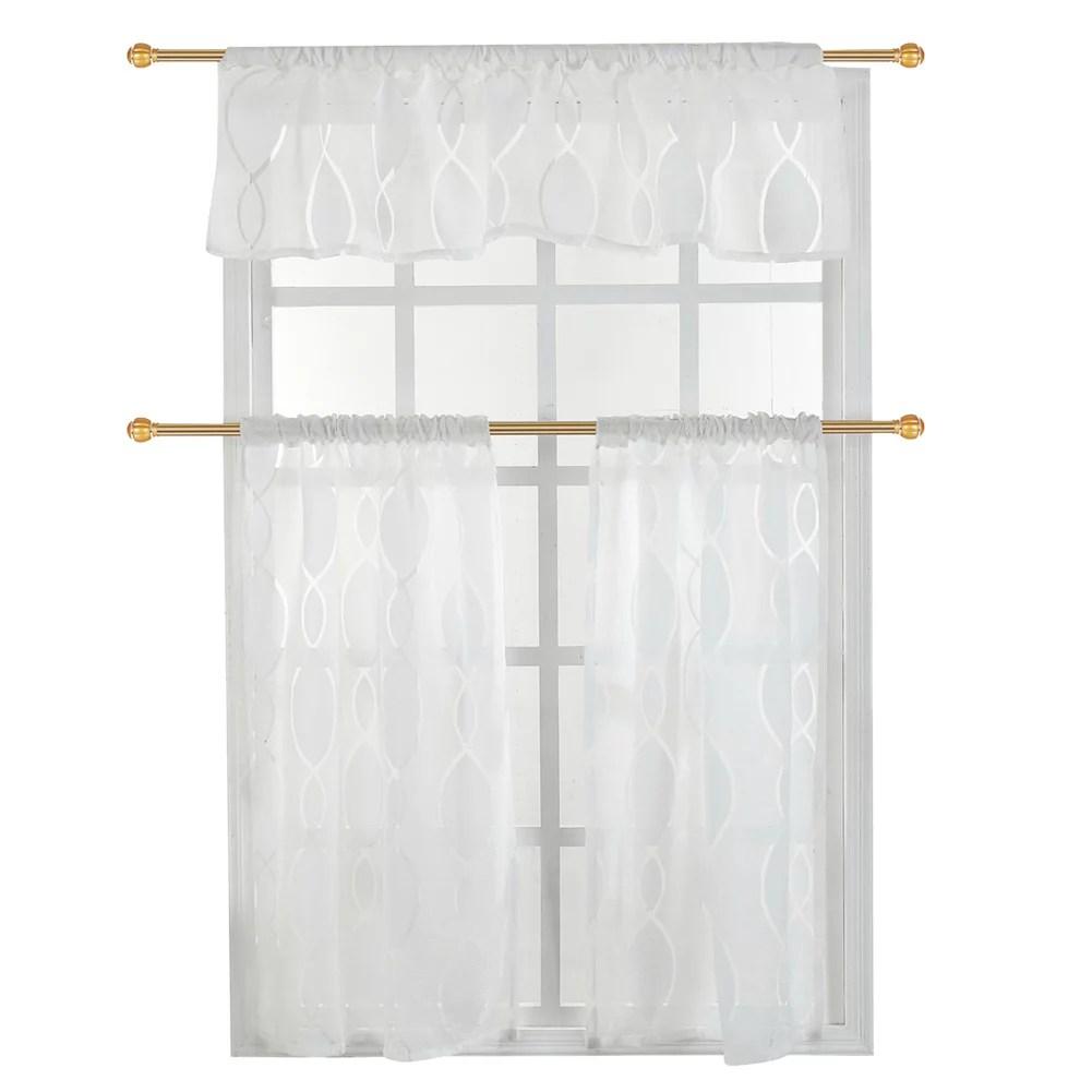 herwey 3 pcs ensemble double couleur polyester fenetre rideau ombre blackout chambre salon rideau fenetre rideau
