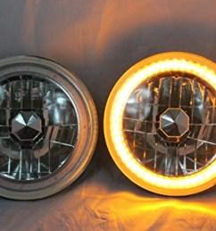 1975 1980 chevy k10 k20 k5 blazer 7 round 6014 6015 6024 chrome diamond projector headlights amber led halo ring walmart com [ 1500 x 999 Pixel ]