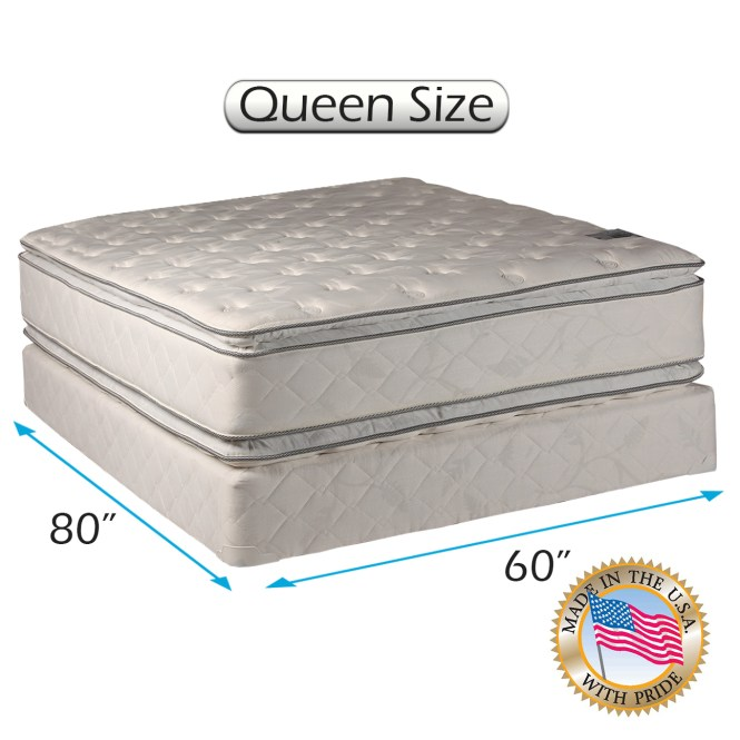 Comfort Princess Plush Pillow Top Queen Size 60 X80 X12 Mattress And Box