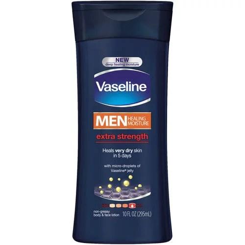 Vaseline Men Healing Moisture Extra Strength Body & Face Lotion, 10 Fl Oz
