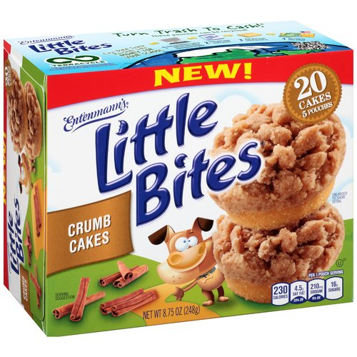 Entenmann39s Little Bites Crumb Cakes 5 count 875 oz