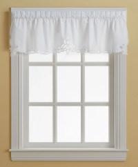 Battenburg white lace kitchen curtain valance - Walmart.com