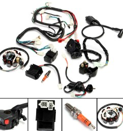 atv electrical wiring harness for chinese dirt bike atv quad 150 250 300cc walmart com [ 1200 x 1200 Pixel ]