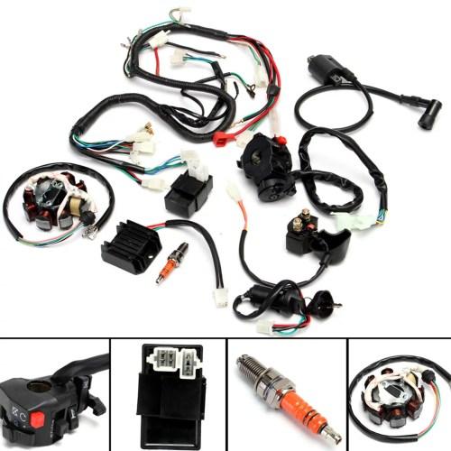 small resolution of atv electrical wiring harness for chinese dirt bike atv quad 150 250 300cc walmart com