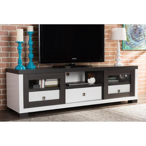Oxley 70Inch Modern and Contemporary Twotone White and