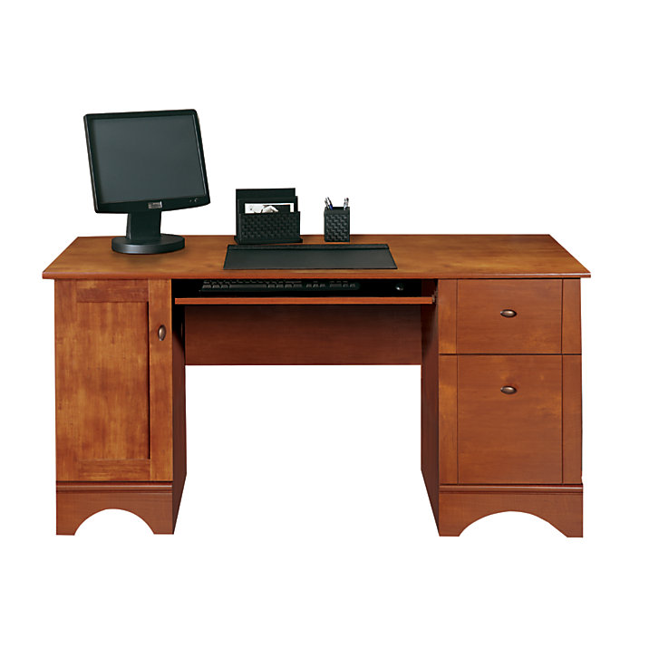 Realspace Dawson 60 Computer Desk Brushed Maple