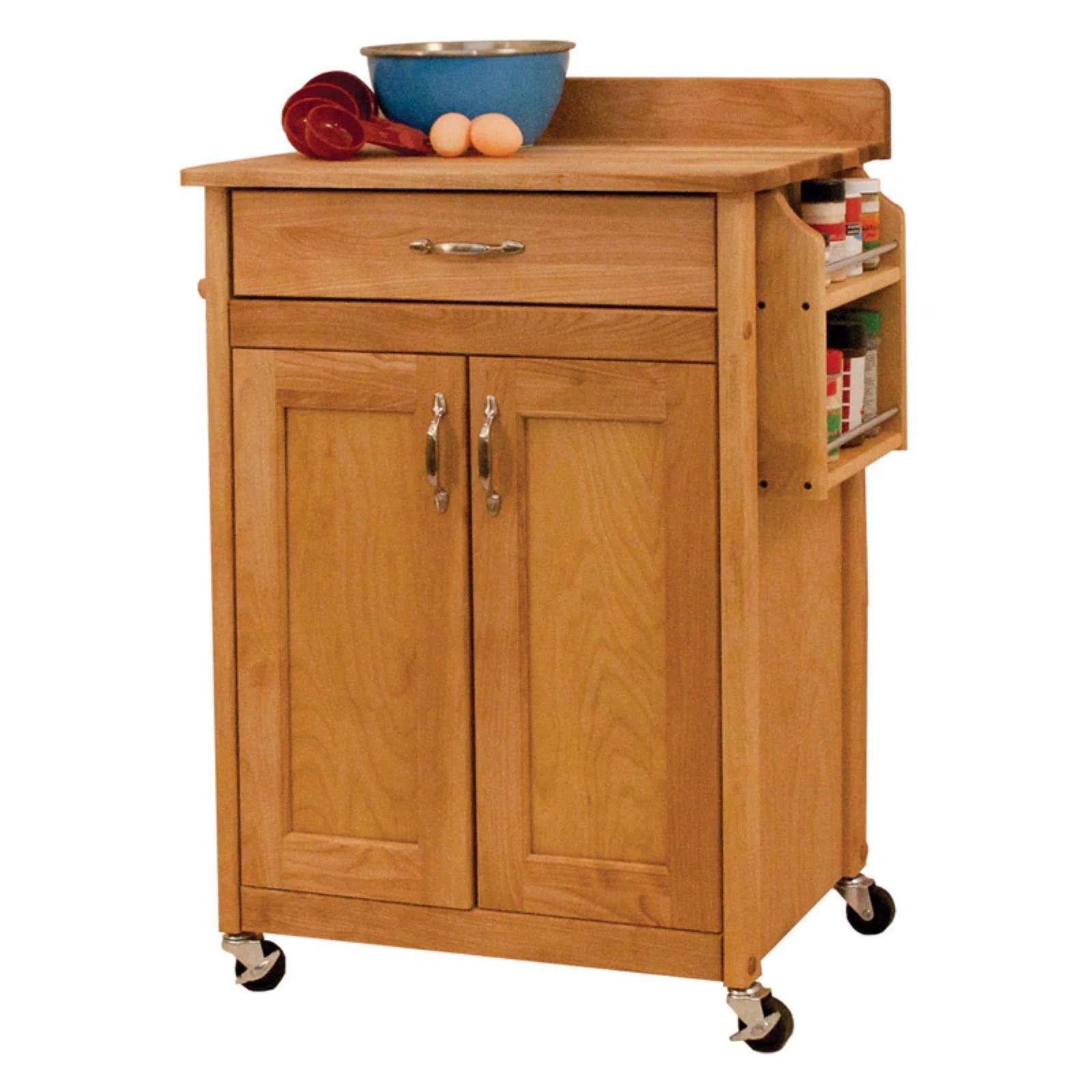 portable kitchen cart microwave catskill craftsman deluxe butcher block