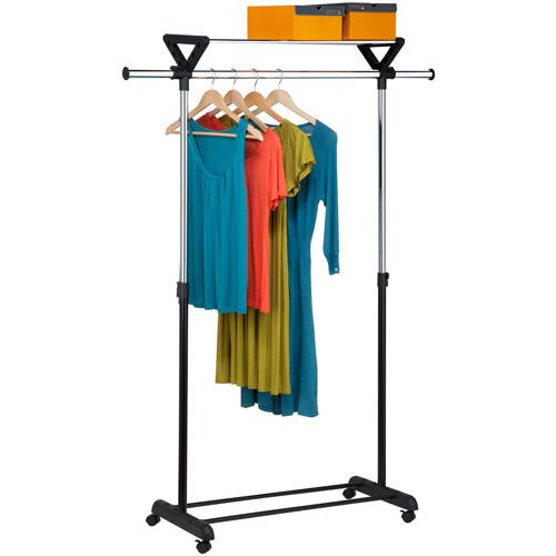 honey can do top shelf garment rack