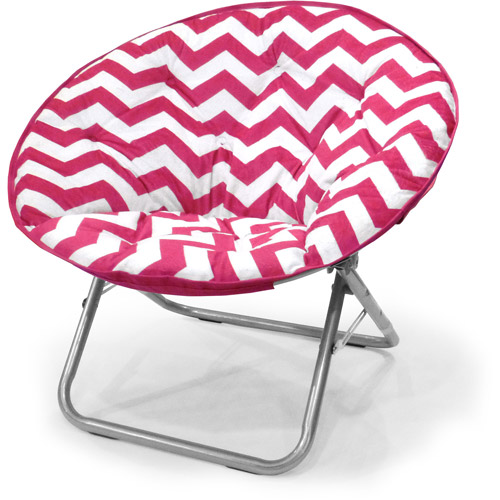 Mainstays Plush Chevron Saucer Chair Multiple Colors
