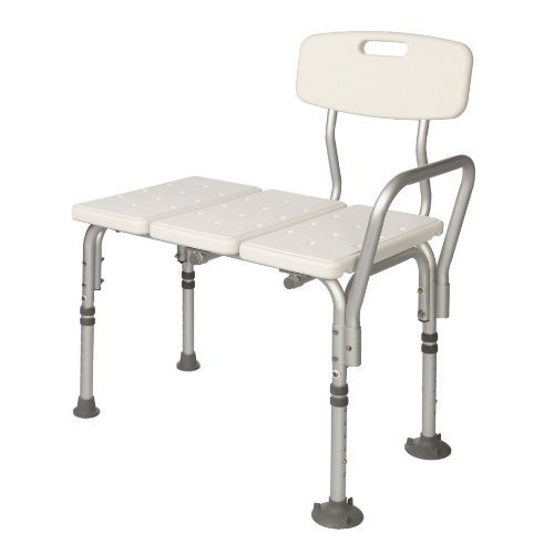 transfer shower chair poang review healthline tub bench lightweight medical bath and with back non slip