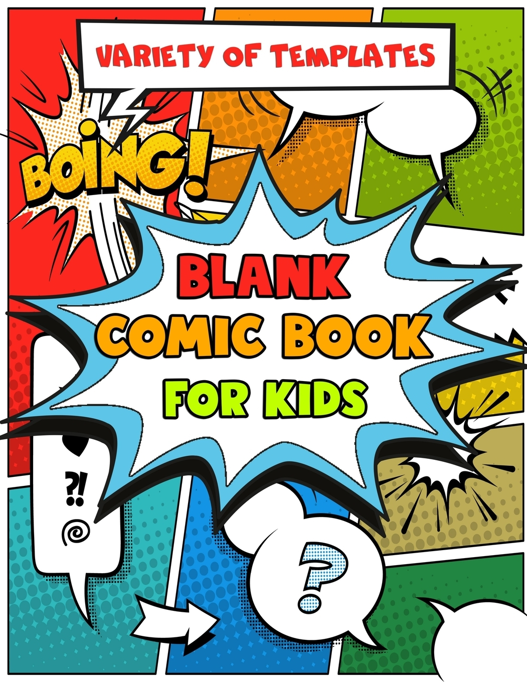 Blank Comic Book For Kids Variety Of Templates Children S