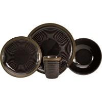 Sango Charisma Black 16-Piece Dinnerware Set - Walmart.com