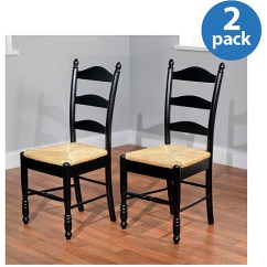 Rush Seat Chairs Round Wicker Chair Outdoor Ladder Back Set Of 2 Multiple Colors Walmart Com