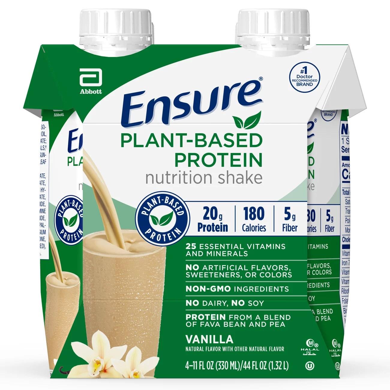 Ensure 100% Plant-Based Vegan Protein Nutrition Shakes ...