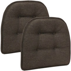 Faux Leather Gripper Chair Cushions Lounge Chairs Dining Pads - Walmart.com