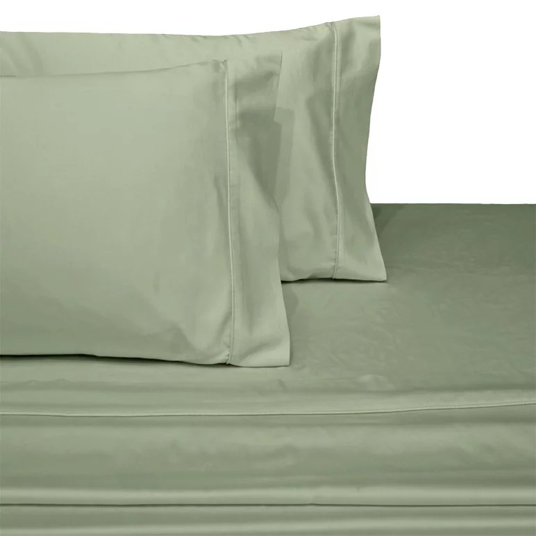 extra pair of standard pillowcases 600 thread count solid 100 cotton sage