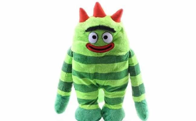 Plush Backpack Yo Gabba Gabba Brobee Green Soft Doll