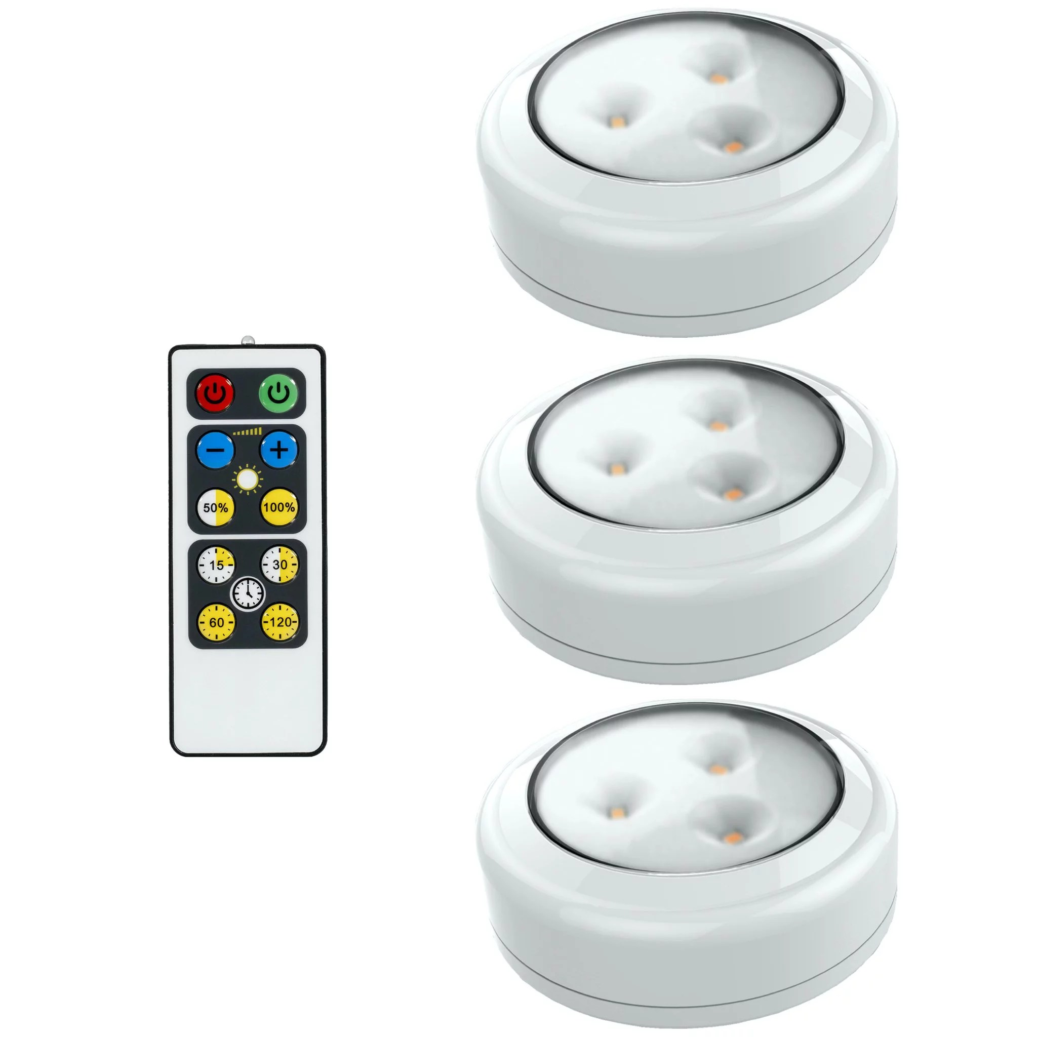 brilliant evolution wireless led puck light 3 pack with remote led under cabinet lighting closet light battery powered lights under counter