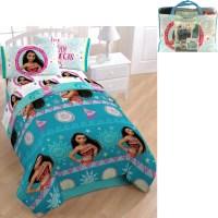 Disney Moana Kids Girls Twin Comforter Sheet Set Bedding
