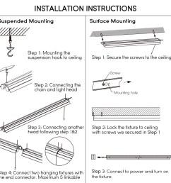 leonlite 4ft linkable led shop light for garage 5000k daylight walmart com [ 1500 x 1500 Pixel ]