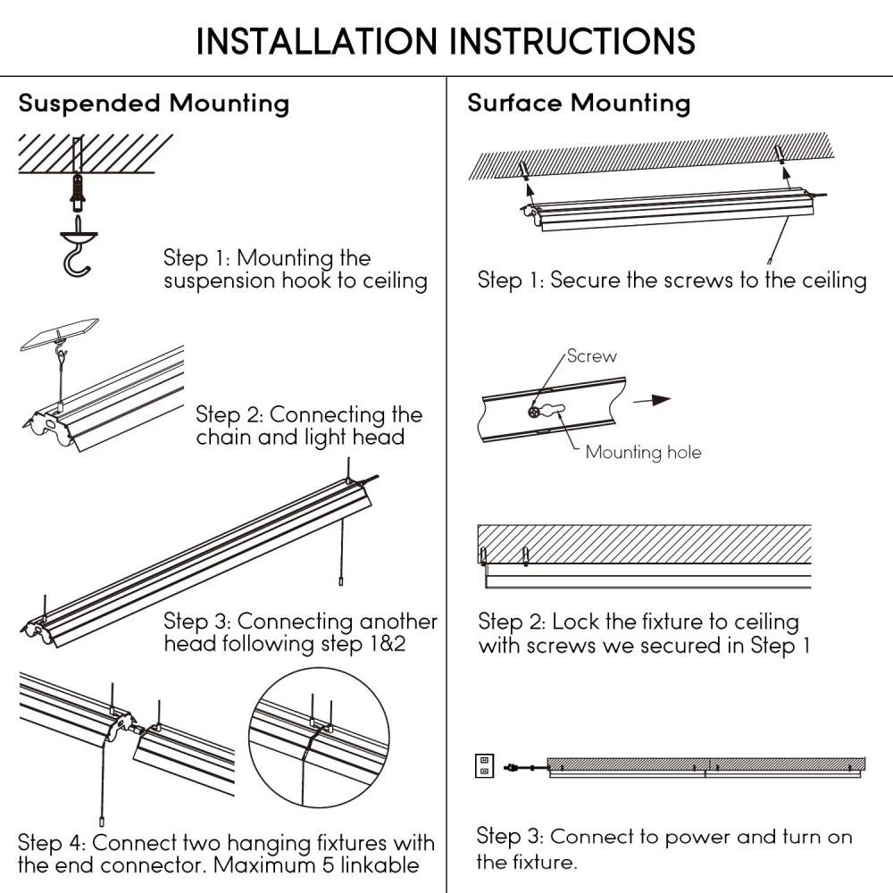 medium resolution of leonlite 4ft linkable led shop light for garage 5000k daylight walmart com