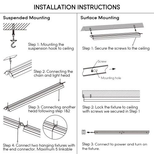 small resolution of leonlite 4ft linkable led shop light for garage 5000k daylight walmart com