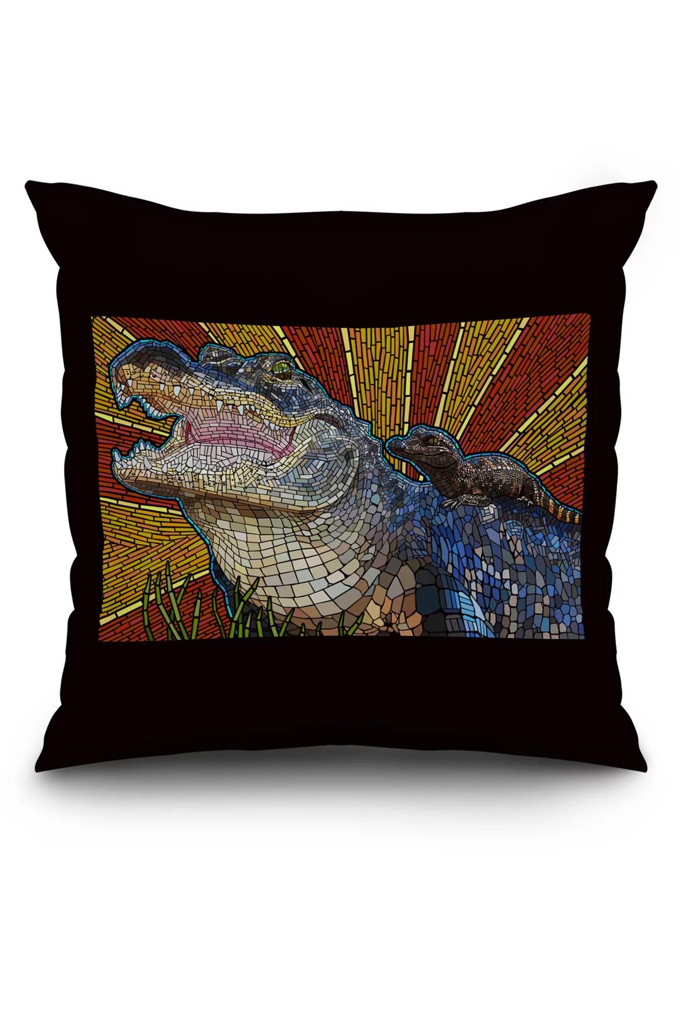 Alligator  Paper Mosaic  Lantern Press Artwork 20x20