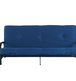 mainstays black metal arm futon with full size mattress multiple colors walmart com [ 2000 x 1333 Pixel ]