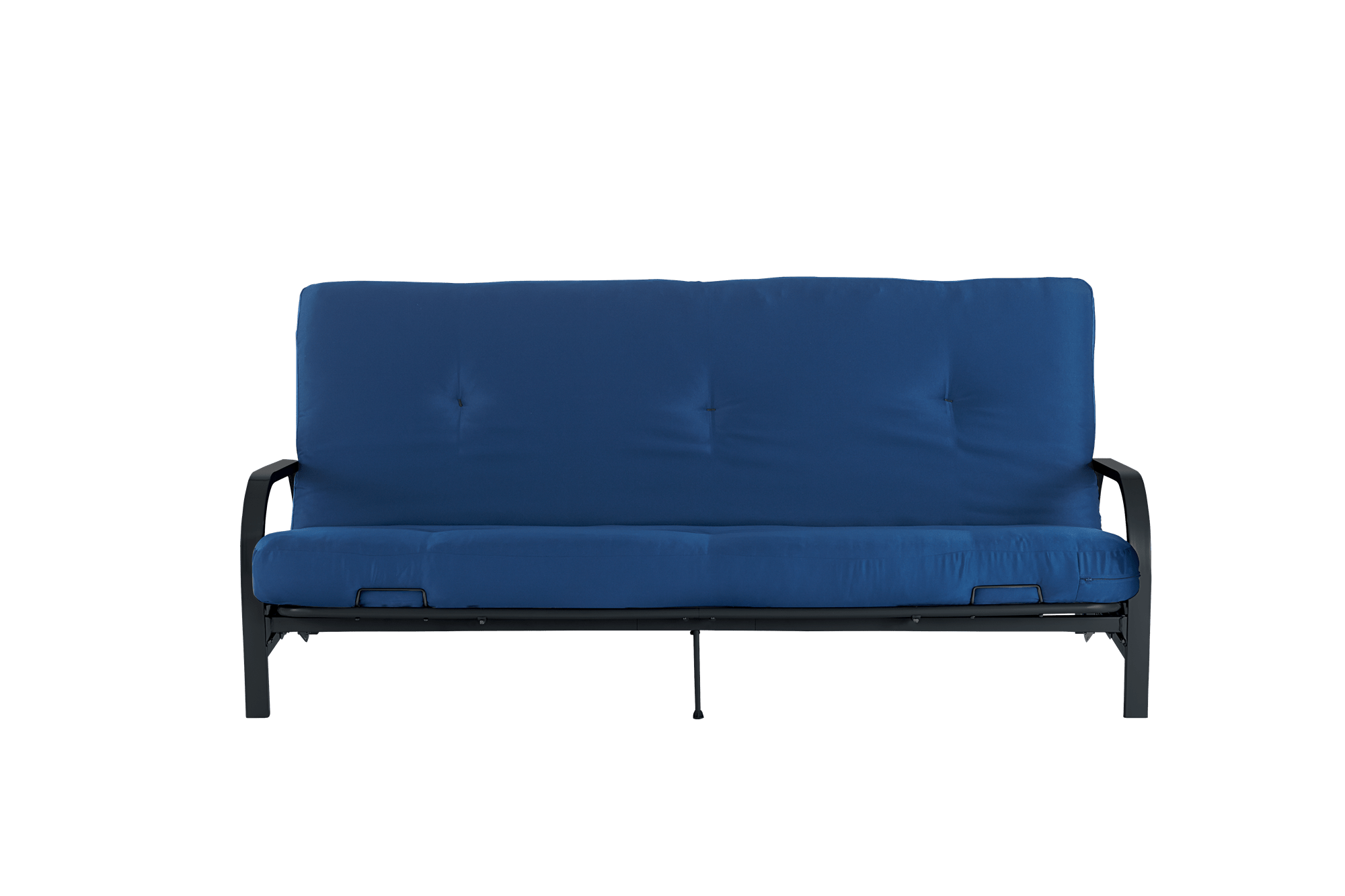 hight resolution of mainstays black metal arm futon with full size mattress multiple colors walmart com