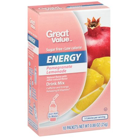 Great Value™ Pomegranate Lemonade Energy Drink Mix .88 oz. Box