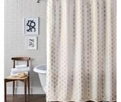 metallic shower curtain