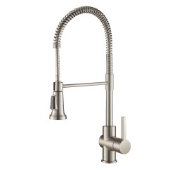 Professional Kitchen Faucet 3 Bowl Sink Kraus Britt Single Handle Commercial With Dual Function Sprayhead In All Brite Spot Free Stainless Steel Finish Walmart Com