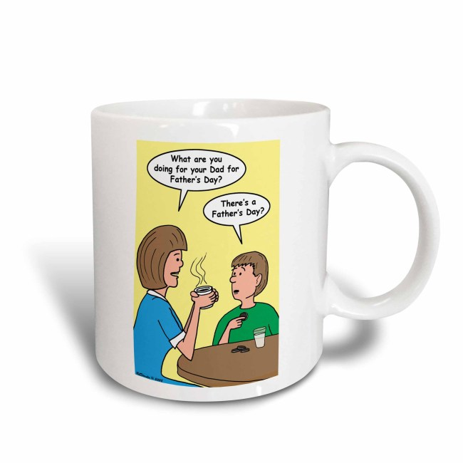 3dRose Fathers Day discussion between mother and son, Ceramic Mug, 11-ounce